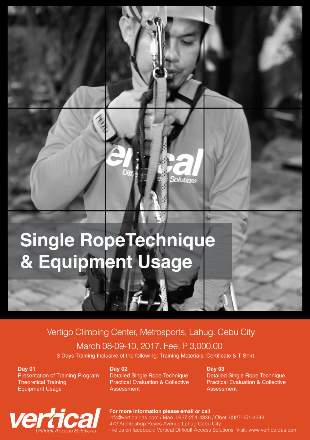 Single Rope Technique & Equipment Usage - Poster